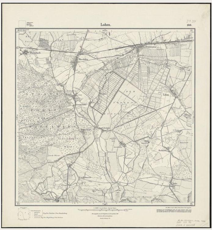 LS-Todtenkopf-Messtischblatt